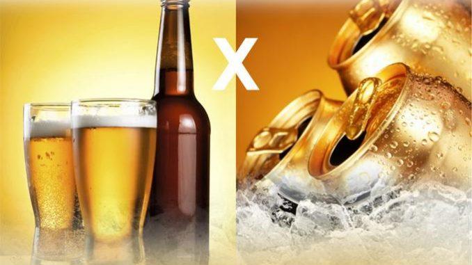 Cerveja: garrafa ou lata?