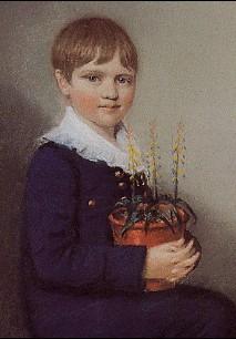 Charles Darwin aos 7 anos de idade
