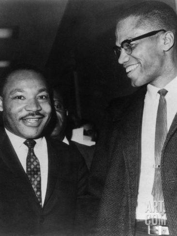 Foto de Martin Luther King e Malcolm X (1964)