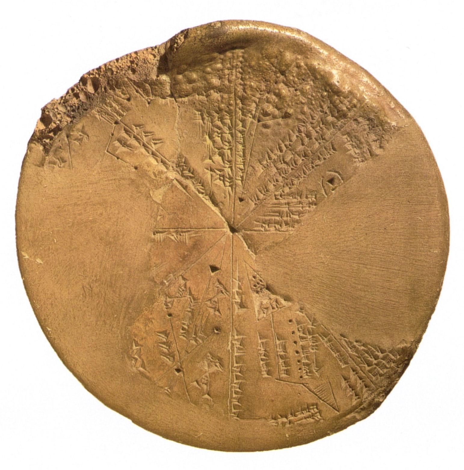 Calendário da Babilônia mostrando constelações. British Museum, London