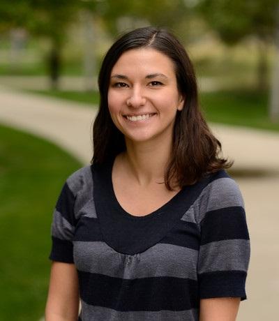 A Dra. Allison P. Swain na Universidade do Colorado - Anschutz. Arquivo pessoal.