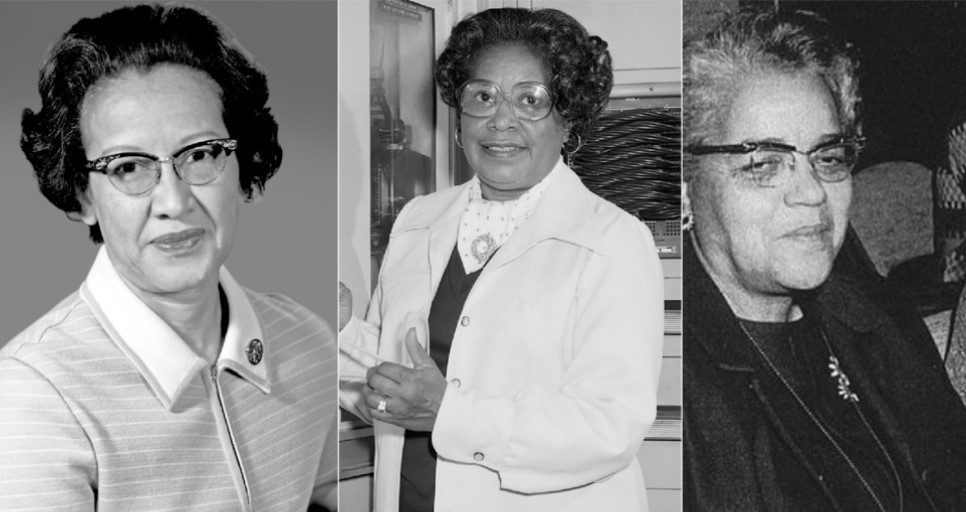 As cientistas Katherine Johnson, Mary Jackson e Dorothy Vaughan