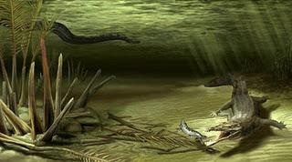 >Novo Croc gigante do Paleoceno Colombiano e pistas sobre a origem dos Dyrosauridae