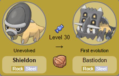 Shieldon e Bastiodon