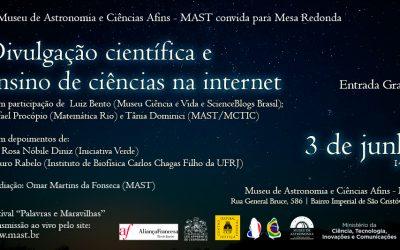 Mesa-redonda sobre divulgação científica na internet