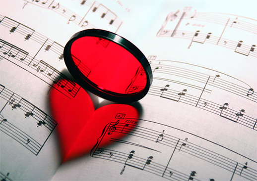 red-filter-heart-music