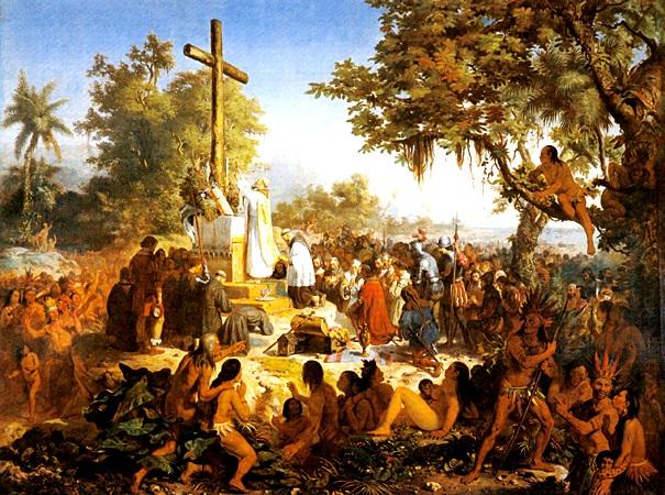 A Primeira Missa no Brasil, por Victor Meirelles