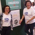 As professoras coordenadoras do curso de Linguística.