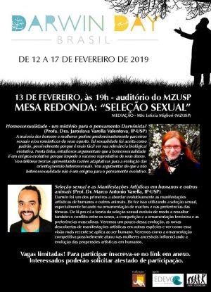 darwin day 2019 mesa seleção sexual Jarka e Marco no MZ-usp