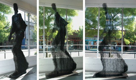escultura homem quantico
