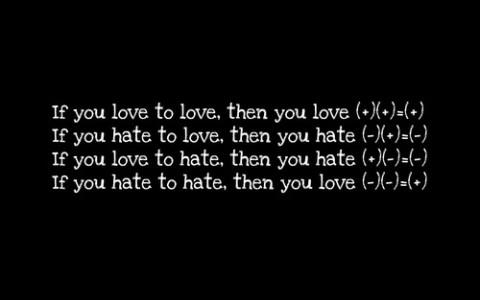 matematica do amor e do odio