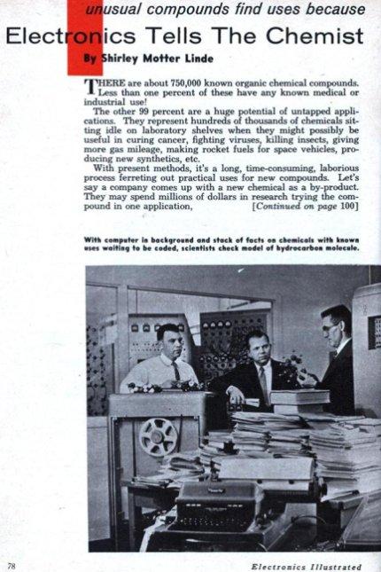 computação e química na década de 60