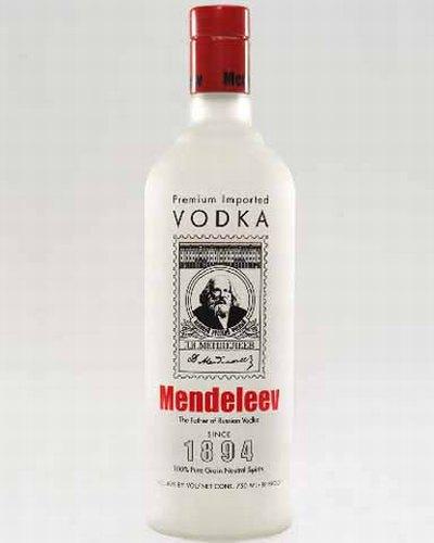 garrafa vodka mendeleev