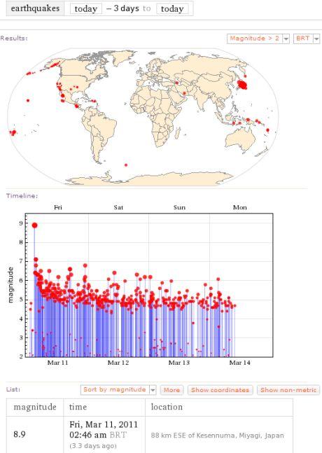 3 dias terremotos japão