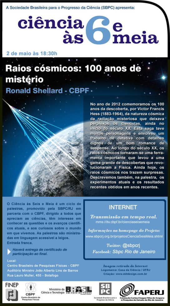 palestra sobre raios cosmicos