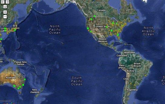 google maps mostrando que no Brasil não temos sensores