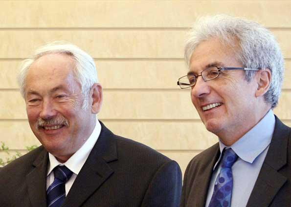 Peter Grünberg e Albert Fert.