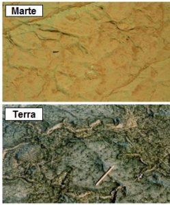 Figura 3: Comparação de estruturas encontradas em Marte com MISS da Terra.