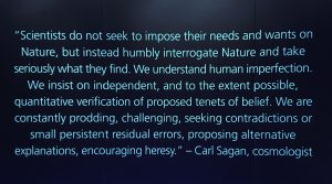 Texto de Carl Sagan, cientista americano famoso por ser um grande divulgador de ciência.