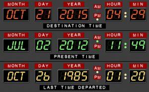 se você pudesse voltar no tempo, qual data do calendário escolheria?