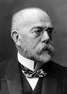 Robert Koch, bacteriologista alemão, foi importante na descoberta dos bacios da difteria, antraz, tuberculose e cólera