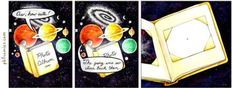 Álbum de fotos do universo