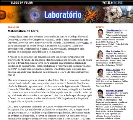 Novo blog de ciência no ar