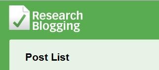Seleção de posts no ResearchBlogging
