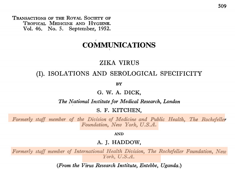 Zika, patentes, Rockefeller e a diferença entre saber e entender