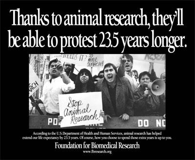 Cientistas e governo em campanha pelo uso de animais em pesquisa