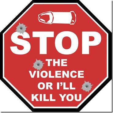 A solução da violência é uma questão metafórica