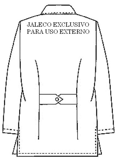 jaleco para uso externo costas