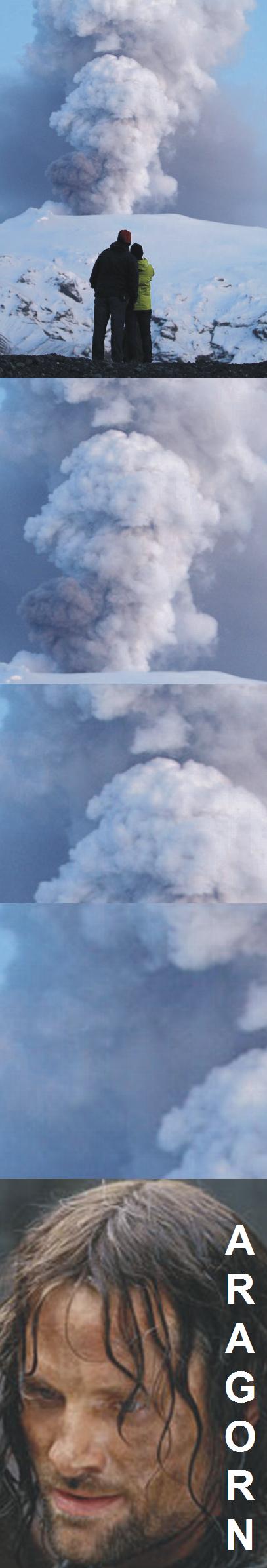 vulcão tenso