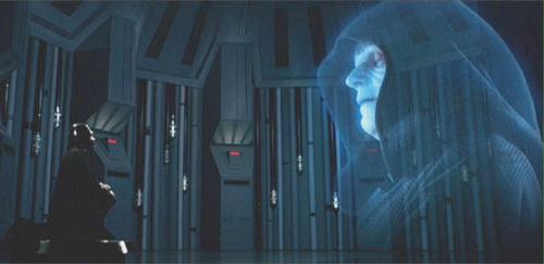 Estou também supondo que os hologramas ao vivo sejam transmitidos pela Força.