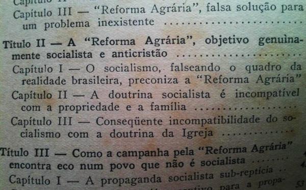 Reforma agrária é anti-católico