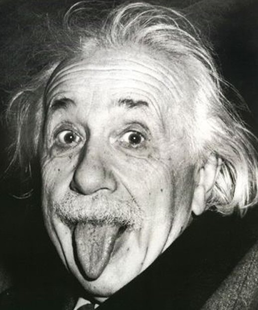 Einstein mostra a lingua