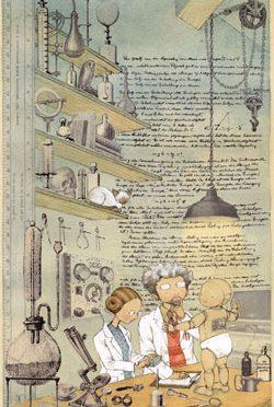 Ilustrações de ciência para as crianças
