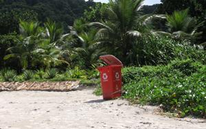 Reciclagem na praia