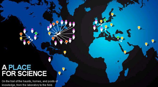 Mapa interativo sobre ciência
