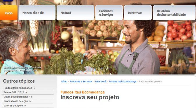 Inscrições de ONGs no Programa Itaú Ecomudança