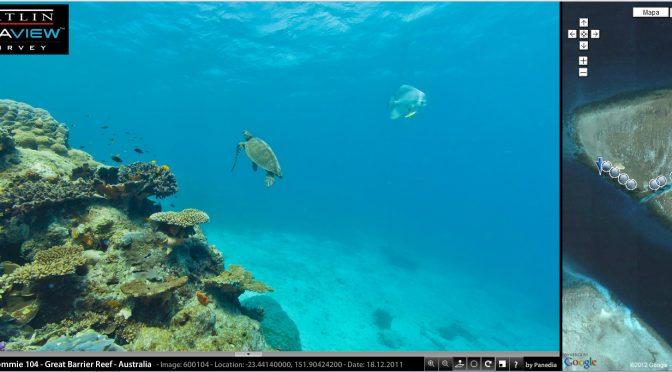 Google Street View debaixo do mar