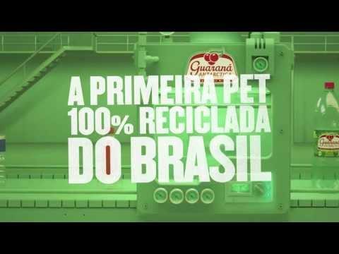 A garrafa 100% reciclada de Guaraná Antarctica
