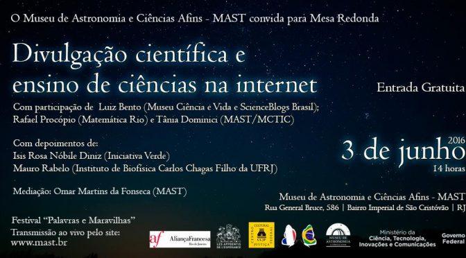 Museu de Astronomia do Rio tem evento sobre divulgação de ciência na internet