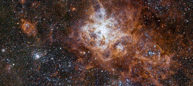 Telescópio captura imagem mais nítida da região da Nebulosa da Tarântula